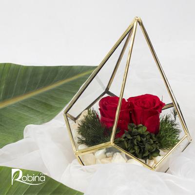 30DF31R7-L-آبگینه دو گل قرمز