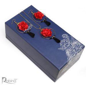 نیم ست فریزیا گل جاودان کلاس آناهیتا رنگ قرمز