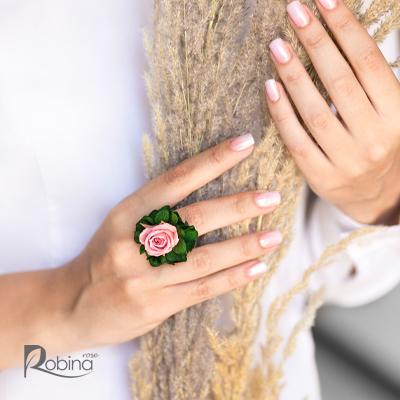 10RO61L1-L-رویال انگشتر صورتی سبز